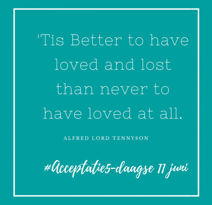 'Tis Better To Have Loved And Lost…